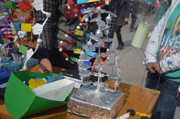 高一年级成功举办生物模型制作大赛